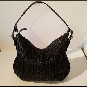 Cole Haan Quilted Black Leather Handbag